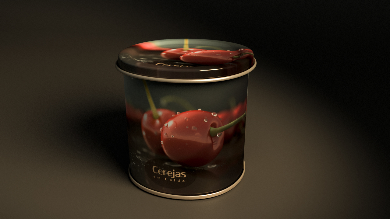 Cherry Can - 3d for Advertising
