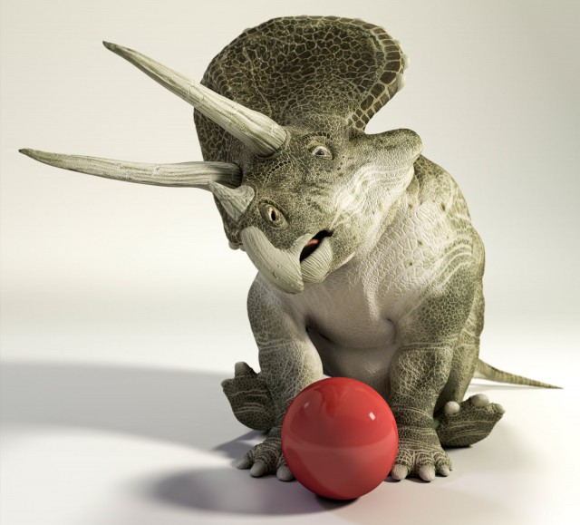 Triceratops and The Ball