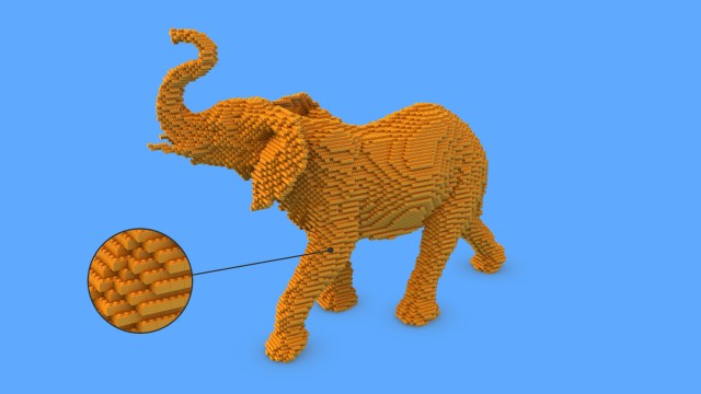 Yellow Elephant in Lego